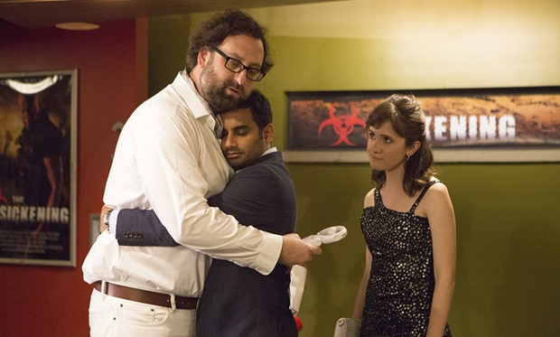 Left to right: Eric Wareheim, Aziz Ansari & Noël Wells play Dev, Arnold & Rachel in Master of None