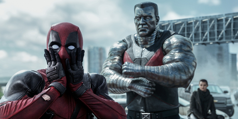 Deadpool, Colossus and Negasonic Teenage Warhead together